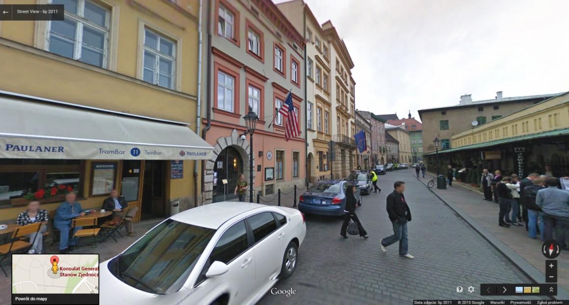 Konsulat w Krakowie. fot. google street view