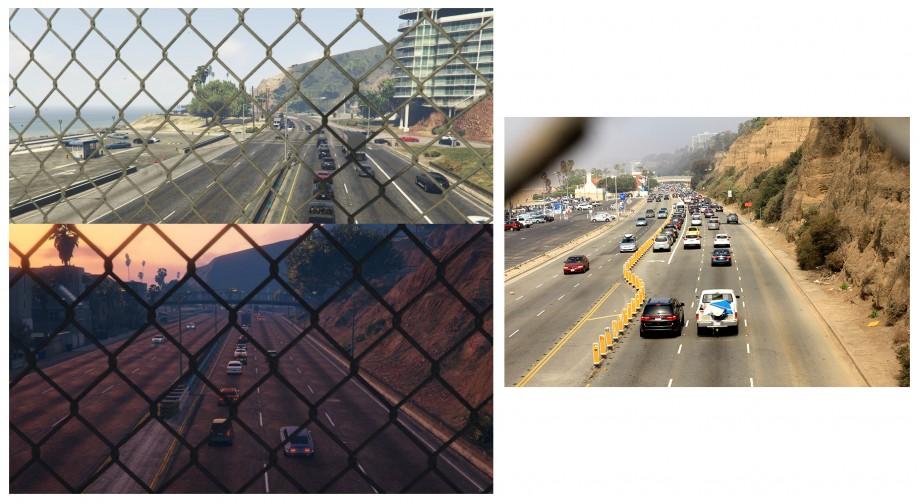 przejście nad pacific highway - w grze zrobiłem dwie fotki, gdzie widac więcej podobieństw