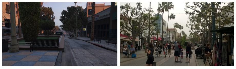 Część sklepowa Santa Monica