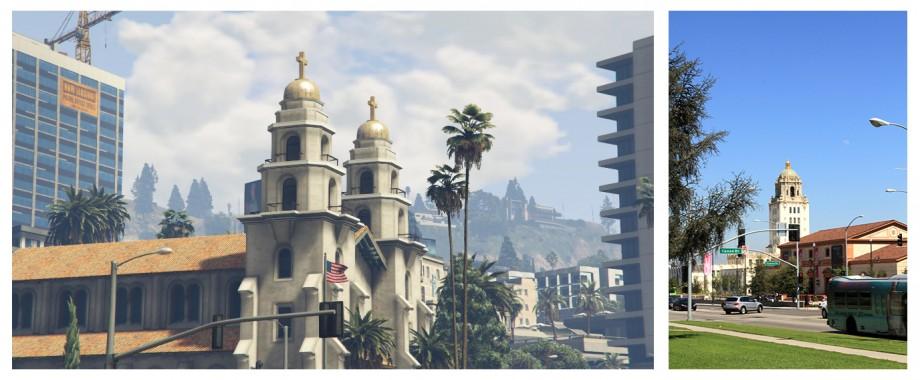 Kościół przy Beverly Hills - co prawda na żywo jest jedna kopuła a nie dwie, ale zawsze coś:)