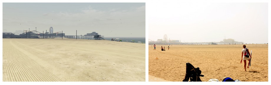 Santa Monica Pier i plaża